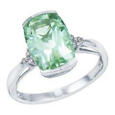 Cushion Cut Green Amethyst Ring - Colored Gem Rings - Rings - Jewelry - Helzberg Diamonds