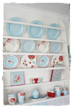 Sommerhusliv all year | lovely blue & red GreenGate