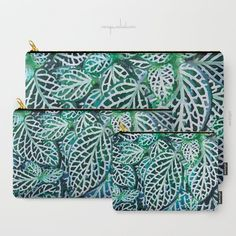Tropical Leaves Fittonia Nerve Plant Carry-All Pouch by menegasabidussi Nerve Plant, Canvas Totes, Tropical Leaves, Plant Decor, Graphic Prints, Pouches, Canvas Prints, Watercolor, T Shirts For Women