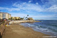 Cala de las Piteras is beach in Torrevieja, Alicante, Spain. Map and Photos for Cala de las Piteras and other beaches in the area are available. Torrevieja, Beaches, Things To Do, Spain, Water, Outdoor, Calla Lilies, Towers, Beach