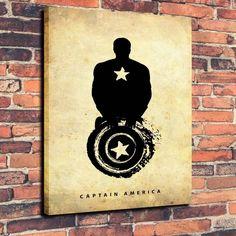 Iron Man Black Art Print Oil Painting on Canvas Home Decor Unframed | eBay