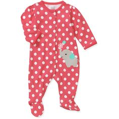 Child of Mine by Carters Newborn Girl Sleep n Play: Baby Clothing : Walmart.com