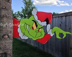Listo PARA enviar a Grinch yarda arte árbol por sweetpeapaint