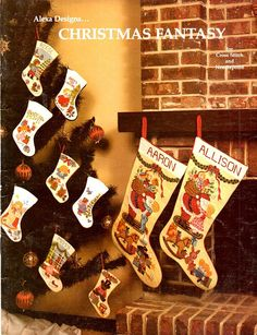 Christmas Fantasy Alexa Designs Stockings by howtobooksandmore