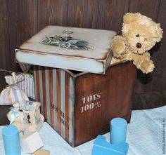 "Короб ""Secret box"" - короб для хранения,ящик для хранения,короб для игрушек Decoupage, Secret Box, Stencils, Vintage, Craftsman Deck Boxes, Decorated Boxes, Wood Art, Ideas, Etchings"