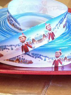 7/8  Elf on the Shelf Themed Grosgrain by BellaandKateDesigns