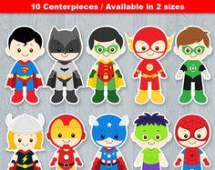 Superhero Baby Centerpiece Superhero baby Table Centerpiece   Etsy