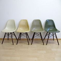 Variations on a Theme   Collection of Eames DSW ChairsEames Herman Miller DSW side chairs on in light greige   elephant  . Eames Dsw Chair Green. Home Design Ideas