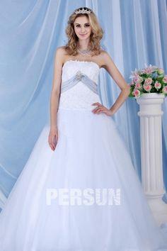 #Elegante #Abito da #Sposa #Palloncino con Nastri WD 0291 - Persunit.com