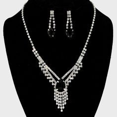 Kassia Rhinestone Necklace Set