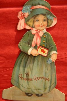 Valentine's Day Card / Paper Doll 1910-1920
