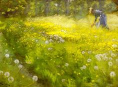 poboh: Queen Of Field Flowers, Peder Severin Kroyer. Norwegian-born Danish Painter (1851 - 1909)