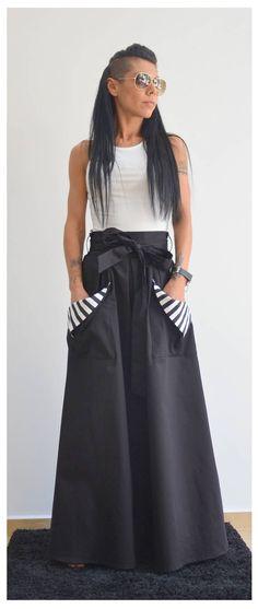 Black Skirt, Skirt With Pockets, Maxi skirt, Circle Skirt, Pleated skirt Pleated Skirt, Dress Skirt, High Waisted Skirt, Maxi Skirts, Maxis, Moda Indiana, Mode Rock, Moda Chic, Look Fashion