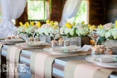 Country chic wedding centerpieces by Regalo Design
