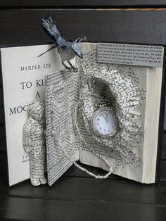 Up-cycle To Kill a Mockingbird Book Sculpture by BklynBerny62