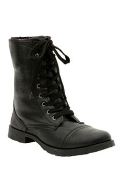 Black Floral Lined Combat Boots ($31.60-39.59) - Hot Topic