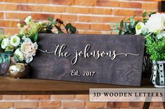 Home Decor Custom Wedding Sign Crystal Diamond Name Family Sign Last Name Free Standing Custom Wood Letters Various Styles