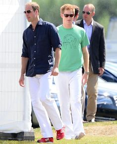 Prince William was joined by his brother Prince Harry for the annual charity event, held at the Coworth Polo Club in Ascot, 3rd Aug 2013