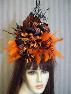 Black Halloween Mini Witch Hat on Headband Witched Mini Hat