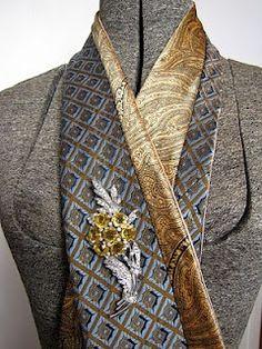 Recycling men's silk ties
