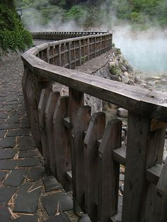 Stone path in Hell Valley, Beitou Hot Springs, Taiwan (by Dai Rui).