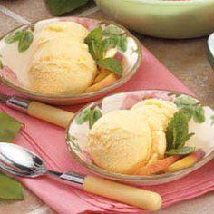 Peach Frozen Yogurt
