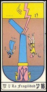 Las Revelaciones del Tarot: 16 - LA FRAGILIDAD - TAROT EGIPCIO -