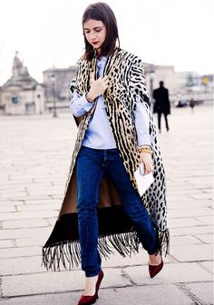 LOVE THE COAT Your Guide to Prints: 34 Street Style Looks to Inspire You via @WhoWhatWear