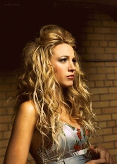 Blake Lively and her long, big, lively hair.  i LOVE this.