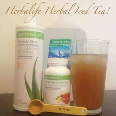 Instead of eating junk food when tired, sip on #herbalife Herbal Tea. 8 oz of water (hot or cold), add 1/2 teaspoon of Herbalife Herbal Tea concentrate and 3 scoops of Herbalife Mango Aloe Vera. Mix or stir. Yummy! This gives you a major energy boost! Oh best part is, you burn 80 calories just by drinking it!