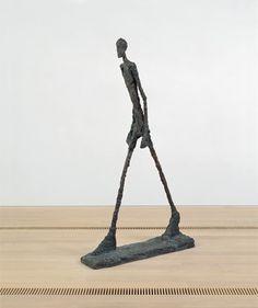 L'homme qui marche II, 1960. Alberto Giacometti.