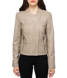 BB Dakota Ramila Leather Jacket - Taupe - The Blues Jean Bar, the Best Place to Buy Jeans!