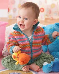 Softee Baby Sweet Striped Jacket and Leggings knit