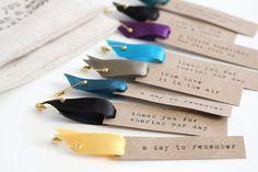 Custom printed hang tags with satin ribbon - DIY or... buy it!