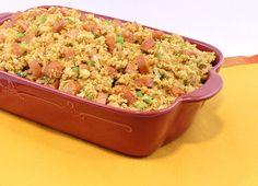 Cajun Country Cornbread Stuffing made with Johnsonville Andouille Sausage
