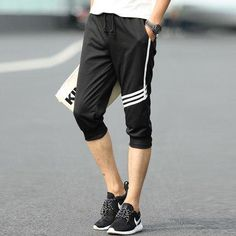 Male casual health pants capris harem pants trousers summer beach male  summer clothing 1deefdd5d2329