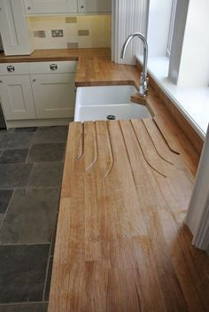 quality fitted kitchens from Glenlith Interiors, specialist kitchen fitters Wood Worktop Kitchen, Kitchen Tops, Kitchen Flooring, Kitchen Black, Wooden Kitchen Countertops, Kitchen Fitters, Küchen Design, Country Kitchen, Kitchen Interior