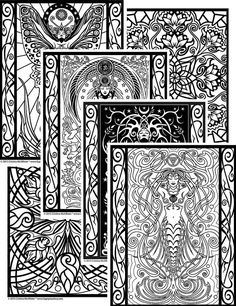 "A downloadable digital version of Cristina McAllister's ""Sacred Beauty"" Coloring Book.  Print your own .pdf coloring pages with your laser printer!"