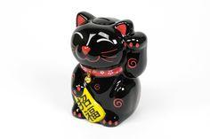 Maneki-Neko Lucky Cat Preto   A Loja do Gato Preto   #alojadogatopreto   #shoponline   referência 72928087