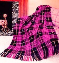 Plaid Afghan Crochet Blanket Pattern - PDF Instant Download - Afghan Striped Lap Blanket - Fringe Tartan Throw - Digital Pattern by GrandmaHadItGoinOn on Etsy https://www.etsy.com/listing/202697872/plaid-afghan-crochet-blanket-pattern-pdf