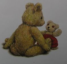Old Bear & Little Bear from Jane Hissey. Baby Baby, Bears, Nostalgia, Sisters, Childhood, Teddy Bear, Illustrations, Number, Animals