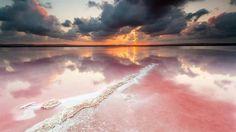 Pink Lake - Salinas de Torrevieja, Alicante, Spain