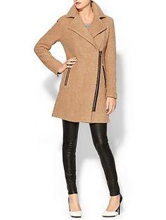 Calvin Klein Wool Coat With Zipper | Piperlime $182