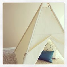 Natural Canvas Play Tent
