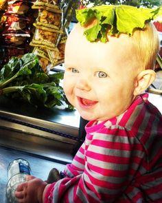 #TBT #ZoeJane helping me sling some healthy dinner on my cart #LettuceBFrank