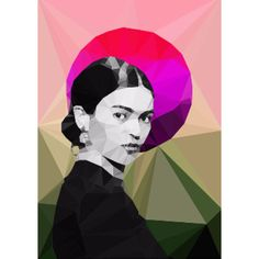 Frida Sunrise Portrait 500mm x 500mm Framed Print ($75) ❤ liked on Polyvore featuring home, home decor, wall art, mexican paintings, portrait painting, mexican wall art, sunrise painting and white wall art