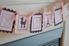 "Paris Poodle French Pink & Black Baby Shower ""It's A Girl"" Banner - Ask About our Party Pack Special. $25.00, via Etsy."