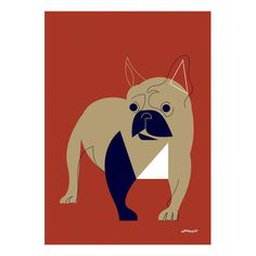 Found it at Joss & Main - 'Mod Dog French Bulldog' by Eleanor Grosch Graphic Art on Wrapped Canvas