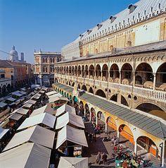 The Piazza della Fruitta, in Padua.