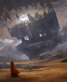 The fantastic illustrations by Arnaud Pheu -. The fantastic illustrations by Arnaud Pheu -… – Fantasy Concept Art, Fantasy Artwork, Dark Fantasy, Concept Art World, Environment Concept, Environment Design, Fantasy Places, Fantasy World, Art Environnemental